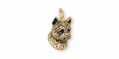 Norwich Terrier Charm Jewelry Sterling Silver Handmade Dog Charm NT4-CG