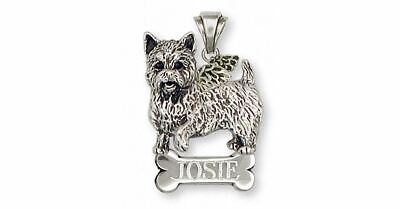 Norwich Terrier Angel Pendant Jewelry Sterling Silver Handmade Dog Pendant NT1-A