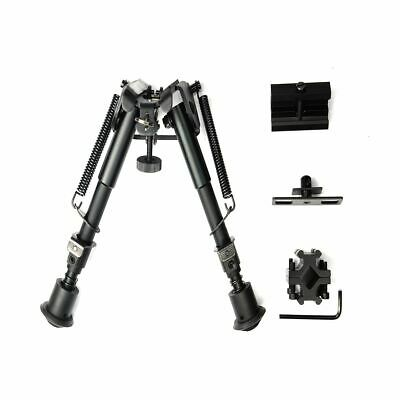 """6"""" - 9"""" Tactical Adjustable Rifle Bipod Sniper Mount with Adapter For Gun Scope"""