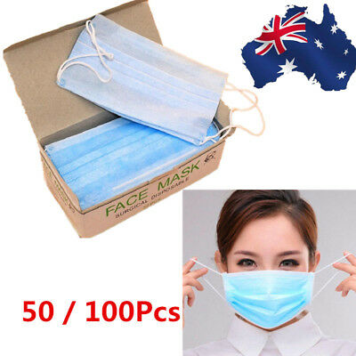 50/100pcs Disposable Surgical Face Anti-Dust Ear Loop Medical Mouth Mask / Cover