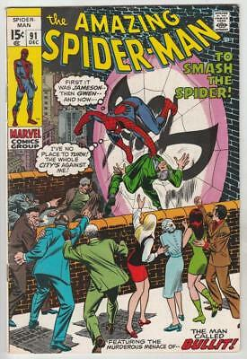 Amazing Spider-Man  # 91  strict  VF/NM  appearance  Captain Stacy, Gwen's Dad!