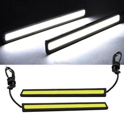 12V Waterproof Ultra-thin Car LED Lights Strip Daytime Running Fog Light SH