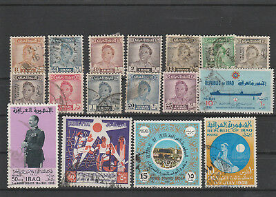 Iraq Iraq Middle East older Postage Stamps mix old Stamps mix Lot Am 5056