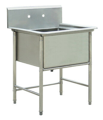 "Commercial Stainless Steel Kitchen Utility Sink - 30"" wide"