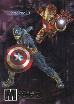 Marvel Avengers Age of Ultron Multiple Metallics Captain America & Iron Man Card