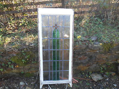 Long Art Nouveau Stained Glass Sash Window For Interior Design or Restoration
