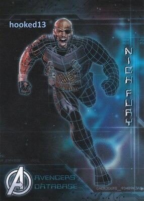 Marvel Avengers: Age of Ultron - Avengers Database Nick Fury Card