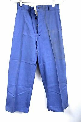 Vtg Boys Pants 40s Work Wear Dead Stock NWT Sanforized Cotton Button Fly Sz 12