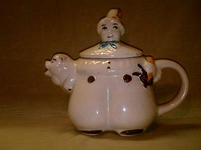 Vintage Shawnee Pottery Tom the Piper's Son Tea Pot-Teapot-Pipers-Patented USA