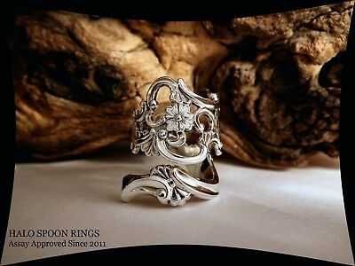 Stunning Chunky Ladies Norwegian Silver Spoon Ring The Perfect Valentine Gift