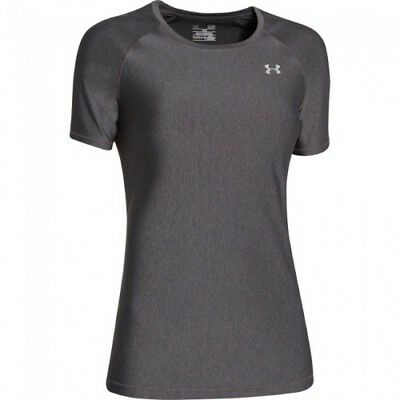 Under Armour HeatGear Short-Sleeve Tee - Women's - Carbon - L - 1248505-090