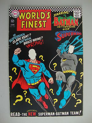 World's Finest #167 VG/F Superman And Batman Team