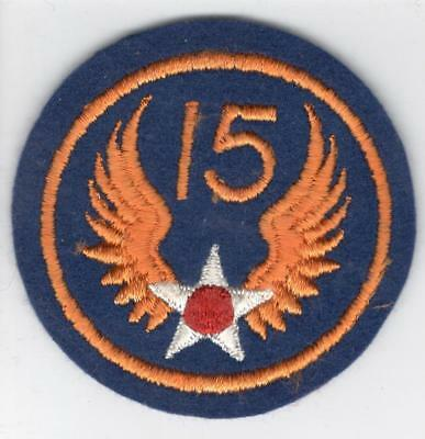 WW 2 US Army 15th Air Force Wool Patch Inv# Z624