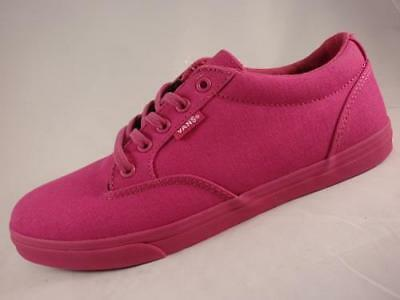 8b0e8d5135dd Women s VANS WINSTON All Pink Magenta Canvas Fashion Skate Sneakers Shoes  NEW