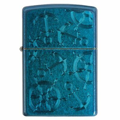 29251 Zippo Cerulean Helms and Anchors Nautical Lighter