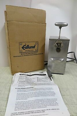 Edlund ECO 203 tabletop Commercial SS Electric Can Opener 115v M090 manual Toggl