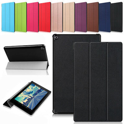 For Amazon Kindle Fire HD 10 8 2017 2018 Leather Magnetic Stand Flip Case Cover