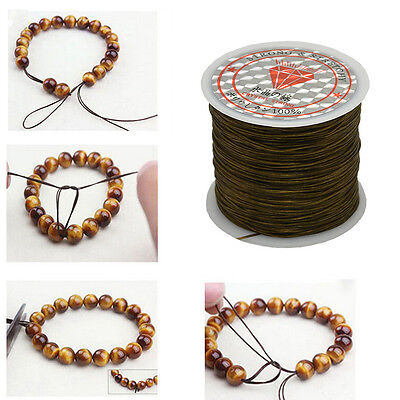 50M Strong Stretch Elastic Cord Wire rope Bracelet Necklace String Bead 0.5mm HU