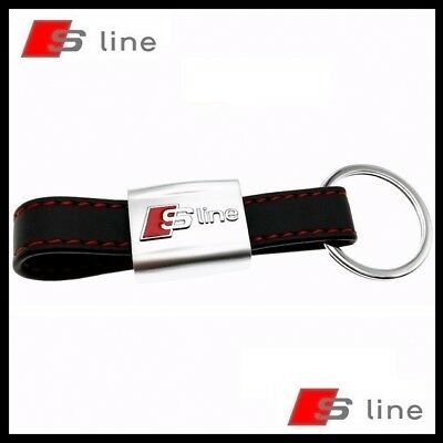 Porte cl s cuir audi s line a3 a4 a5 a6 tt s3 s4 rs4 rs6 for Porte cle audi s line