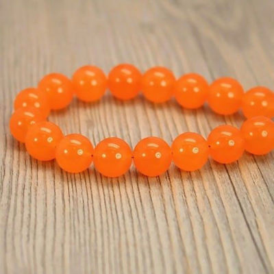 Natural Orange Chalcedony 10mm Round Beads Loose Beads Y1745