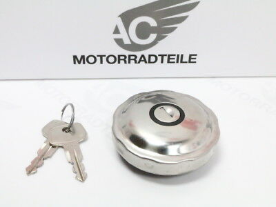 Honda SL 70 90 100 125 175 fuel cap gas tank stainless steel lockable aftermarke
