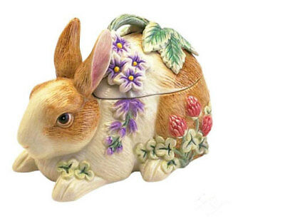 Fitz & Floyd Easter Bunny Botanical Lidded Box