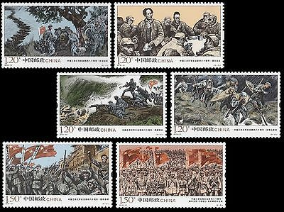 China 2016-31 80th Annv of Red Army Victory stamp set MNH