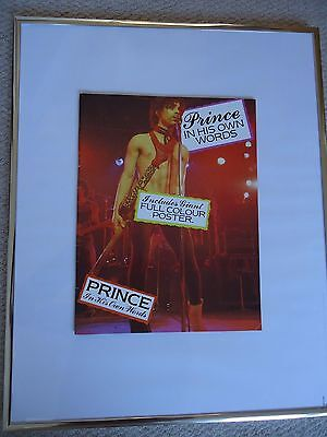 Prince In His Own Words1984 Brochure + Purple Rain Poster Vintage Exceptionalgem