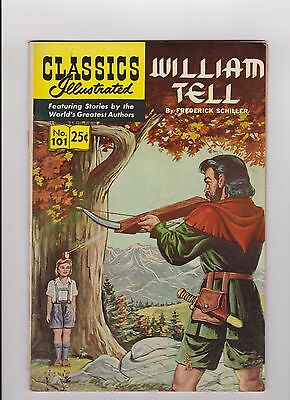 """1969 Classics Illustrated """"William Tell"""" Comic Book #101 by Frederick Schiller"""