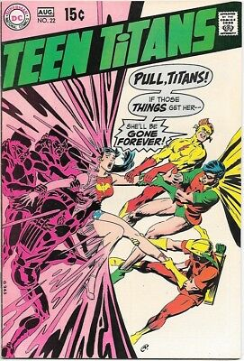 Teen Titans Comic Book #22 DC Comics Neal Adams Art 1969 VERY FINE