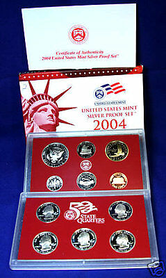 2004-s U.S. Silver Proof Set.  Complete and Original.