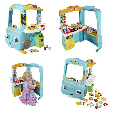 Children Fun Food Truck Laugh Learn Servin Up Play Toy Gift Fisher Price