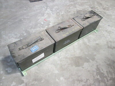 NIW 3-Ammo Can Holder Floor Mt, Armored Vehicle, NEAT, for Military Vehicle APC