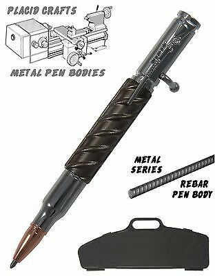 Bolt Action Ballpoint In Rifle Case with Rebar Body & Chrome Hardware / #BACR