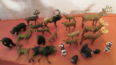 New Ray Tree House Kids Bakery Craft Lot 23 Plastic Animals Deer Turkey Bear Dog