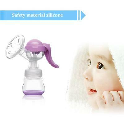 Mom Breastfeeding Milk Manual Breast Pump Feeding Suction Bottle Container BS