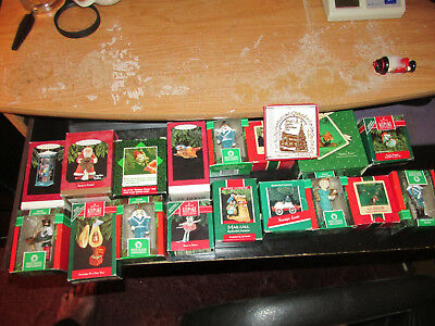 Hallmark Keepsake Assorted Lot Of 18 Christmas Ornaments