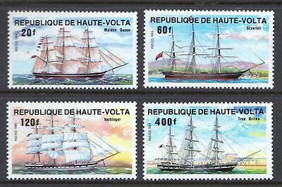 Upper Volta 1984 Ships - Transport - MNH set of 4 - Cat £7  - (391)
