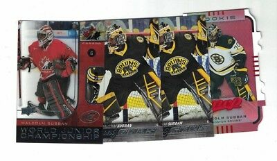 Malcolm Subban Las Vegas Golden Knights Lot of 4 Rookie Hockey Cards