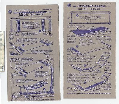 #42 Lot of 6 Diff 1950 NABISCO INJUN-UITY Cards Book #2 Cereal Straight Arrow