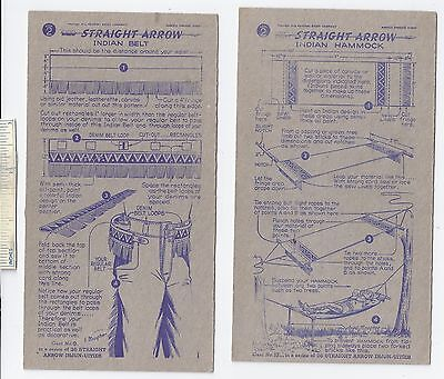 #40 Lot of 6 Diff 1950 NABISCO INJUN-UITY Cards Book #2 Cereal Straight Arrow