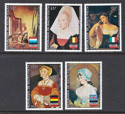 Upper Volta 1973 Airmail - Paintings - EUROPAFRIQUE - MNH set of 5   - (421)