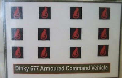 Dinky 677 Armoured Command Vehicle sticker ,