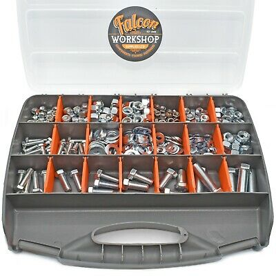 555 Assorted Piece Unf Fine Thread Zinc Imperial Nyloc, Nut, Bolt & Washer Kit