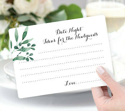 50 wedding game cards wishing well cards date night idea cards bridal shower