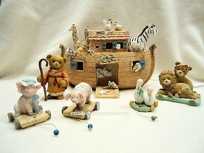 Cherished Teddies Noah's Ark Gift Set LE 2002  Used In Box Excellent Condition