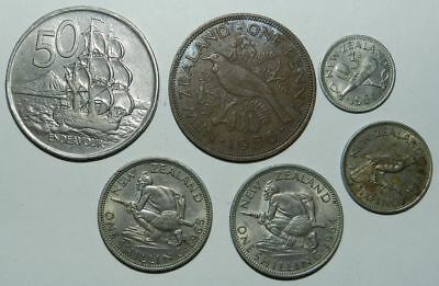 6 X  Old New Zealand Coins