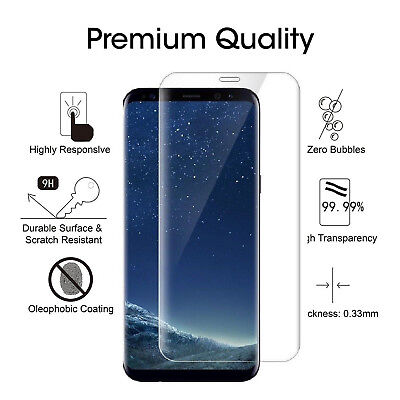 Tempered Glass LCD Screen Protector Film For Samsung Galaxy S8 OU