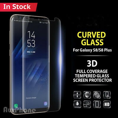 For Galaxy S8 Plus Note 8 Tempered Glass Full Cover Screen Protector Samsung OU