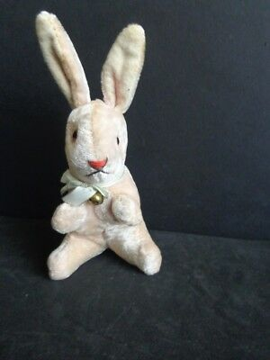 "Vintage 7"" Pink Easter Bunny Rabbit- Pink Eyes- Japan"